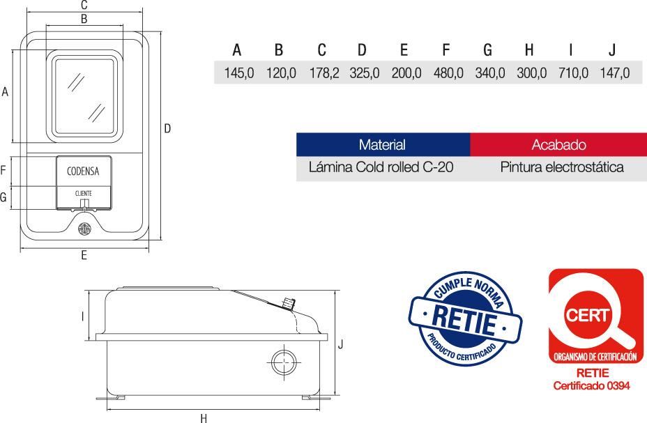 Caja Contador ET-901 Características