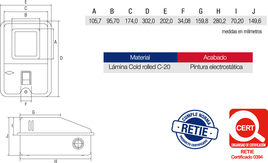 Caja Contador Portabreaker en la Tapa Características