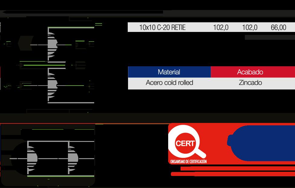 Caja Metálica Empalme Eléctrico 10×10 Características