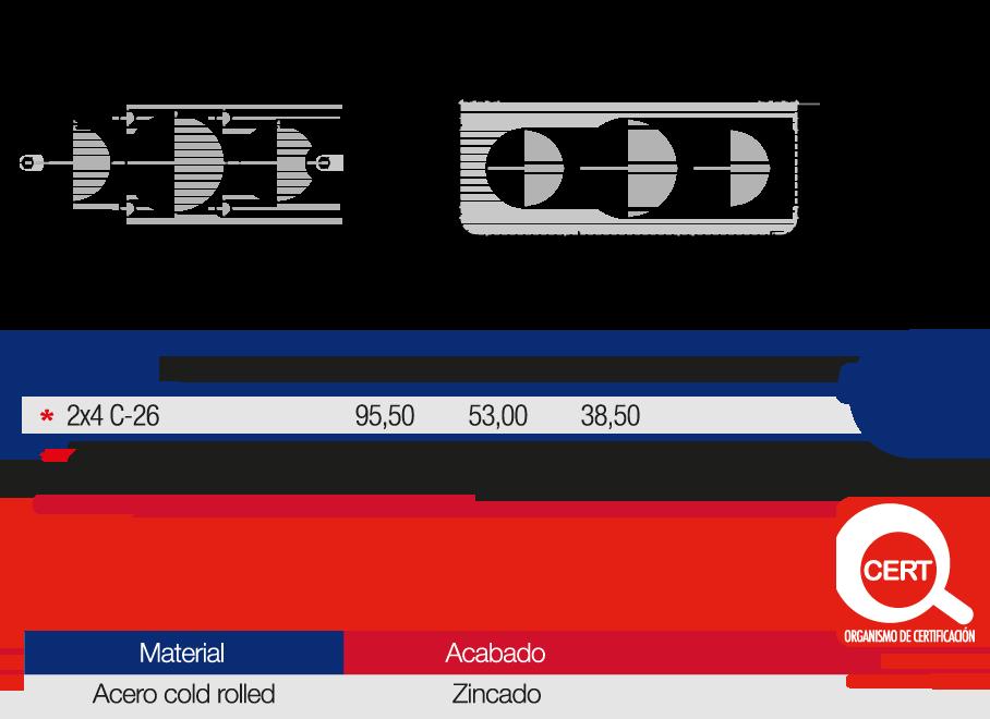 Caja Metálica Empalme Eléctrico 2×4 Características