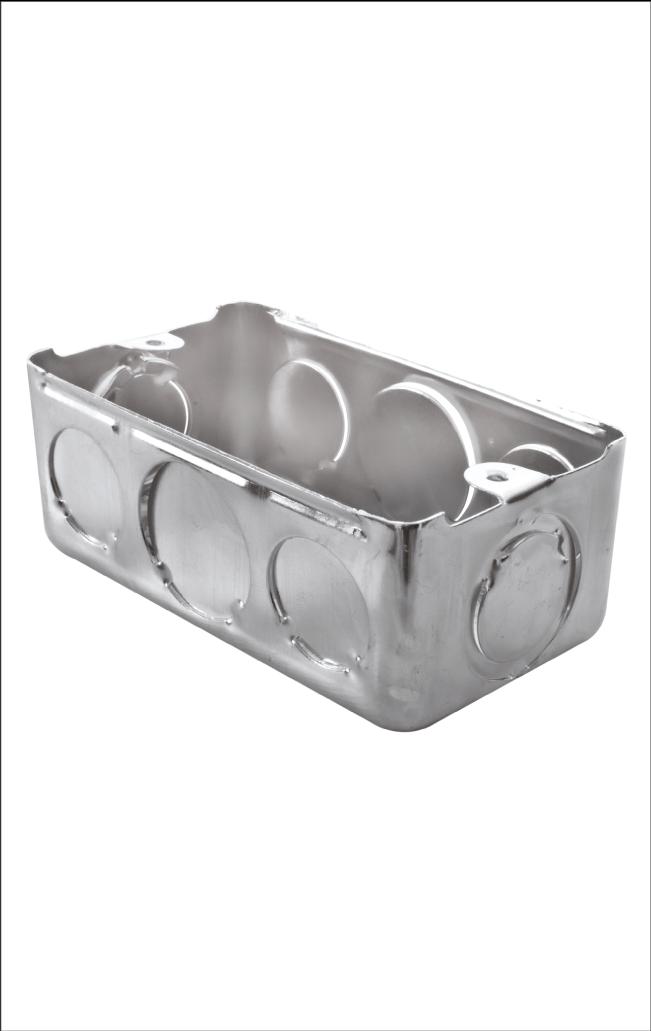 Caja Metálica Empalme Eléctrico 2×4