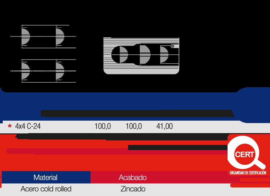 Caja Metálica Empalme Eléctrico 4×4 Características