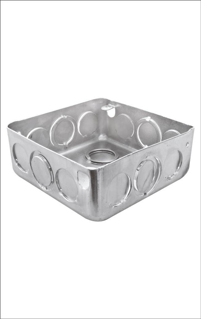 Caja Metálica Empalme Eléctrico 4×4