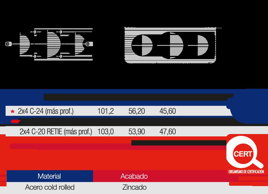 Caja Metálica Empalme Eléctrico 2×4 Más Profunda Características
